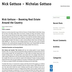 Nick Gottuso – Booming Real Estate Around the Country