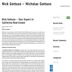 Nick Gottuso – Your Expert in California Real Estate