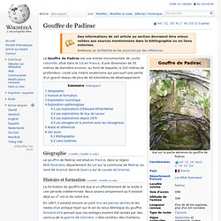 Gouffre de Padirac
