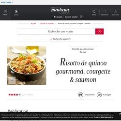 Risotto de quinoa gourmand, courgette & saumon - une recette Découverte - Cuisine