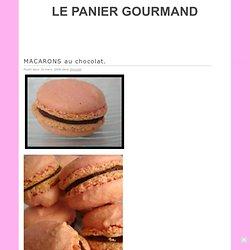MACARONS au chocolat. · LE PANIER GOURMAND