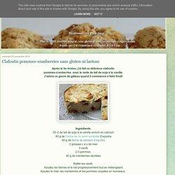 Clafoutis pommes-cranberries sans gluten ni lactose