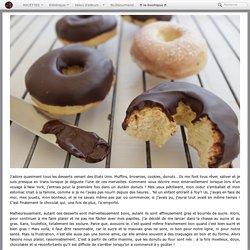 Donuts au four, glaçage au chocolat