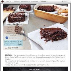 Recette du moelleux au chocolat, à la courgette et au noix