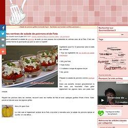 Petites verrines de salade de poivrons et de Feta - GourmanDenise - Les Gourmandises de Denise