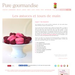 Astuces : macarons