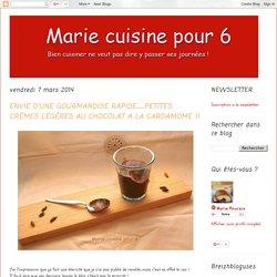 Marie cuisine pour 6: ENVIE D'UNE GOURMANDISE RAPIDE….PETITES CRÈMES LEGÈRES AU CHOCOLAT A LA CARDAMOME !!