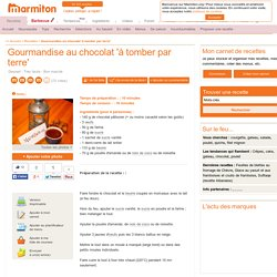 Gourmandise au chocolat (mini coulant)