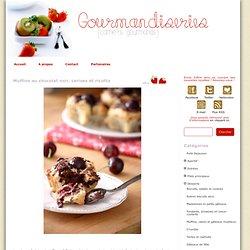 Muffins au chocolat noir, cerises et ricotta