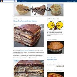 Gâteau chocolat-petits beurre-marrons