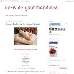 Biscuits Cuillère de Christophe Michalak