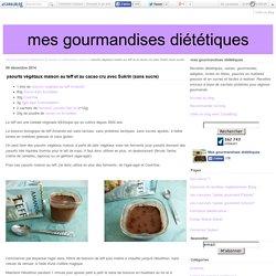 yaourts végétaux maison au teff et au cacao cru avec Sukrin (sans sucre) - mes gourmandises diététiques