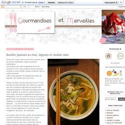 Bouillon japonais au miso, légumes et nouilles udon