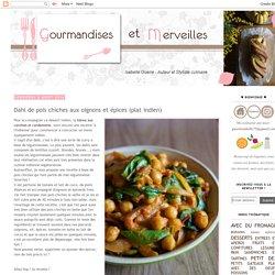 Dahl de pois chiches aux oignons et épices (plat indien)