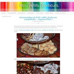 Sablés, fruits secs et papillotes… Joyeuses Fêtes !