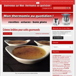 Bienvenue sur Mon Thermomix au quotidien !