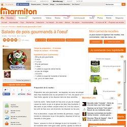 Salade de pois gourmands à l'oeuf : Recette de Salade de pois gourmands à l'oeuf