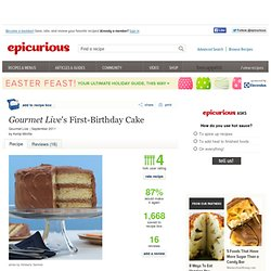 <em>Gourmet Live</em>'s First-Birthday Cake Recipe at Epicurious