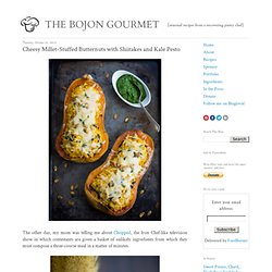 The Bojon Gourmet: Cheesy Millet-Stuffed Butternuts with Shiitakes and Kale Pesto