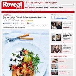 Gourmet recipe: Peach & Buffalo Mozzarella Salad with Pistachio Pesto