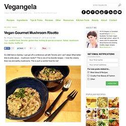 Vegan Gourmet Mushroom Risotto