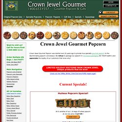 Gourmet popcorn, seasoning, old fashioned popcorn poppers