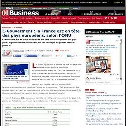 E-Gouverment : la France est en tête des pays européens, selon l'ONU