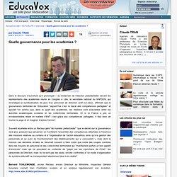 Quelle gouvernance pour les académies ?