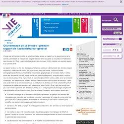 Gouvernance de la donnée : premier rapport de l'administrateur général, donnees publiques, data. En bref - Actualités