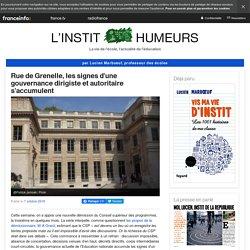 Rue de Grenelle, les signes d'une gouvernance dirigiste et autoritaire s'accumulent