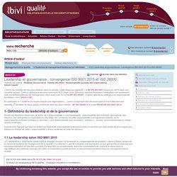 V-22 Leadership et gouvernance : convergence ISO 9001:2015 et ISO 26000