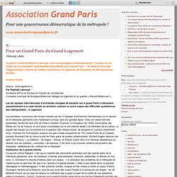 Pour un Grand Paris du Grand Logement - grandparis - Mozilla Fir