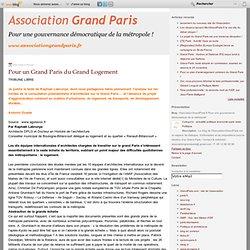 Pour un Grand Paris du Grand Logement - grandparis - Mozilla Fir