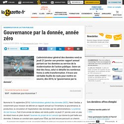 Gouvernance par la donnée, année zéro