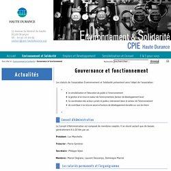 CPIE Haute Durance: Gouvernance et fonctionnement