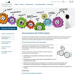 Plan de gouvernance de l'information