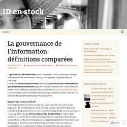 Définition de la gouvernance de l'information