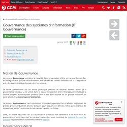 Gouvernance des systèmes d'information (IT Gouvernance)