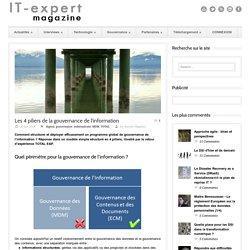 IT-expert Magazine Les 4 piliers de la gouvernance de l'information