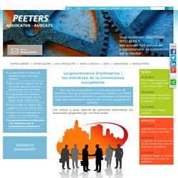La gouvernance d'entreprise : les initiatives de la Commission européenne
