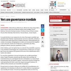 Vers une gouvernance mondiale