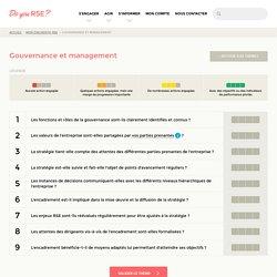 Gouvernance et management - Mon diagnostic RSE - Do you RSE?