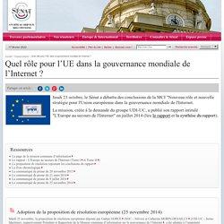 Quel rôle pour l'UE dans la gouvernance mondiale de l'Internet ?