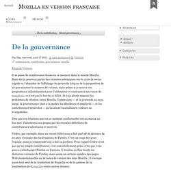 De la gouvernance - Mozilla en version française