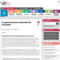La gouvernance nationale du tourisme