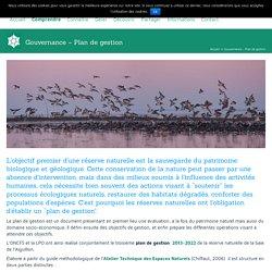 Gouvernance Plan de gestion réserve naturelle baie aiguillon