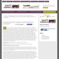 Gouvernance de la recherche – Régulation, organisation et financement