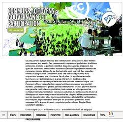 Communs: citoyens, gouvernance et participation