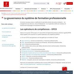 Nouvelle gouvernance du système de formation professionnelle