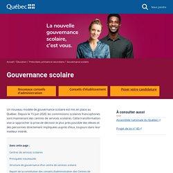 Gouvernance scolaire